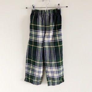 Kule 100% Cotton Plaid Flannel Pants Blue Green 6